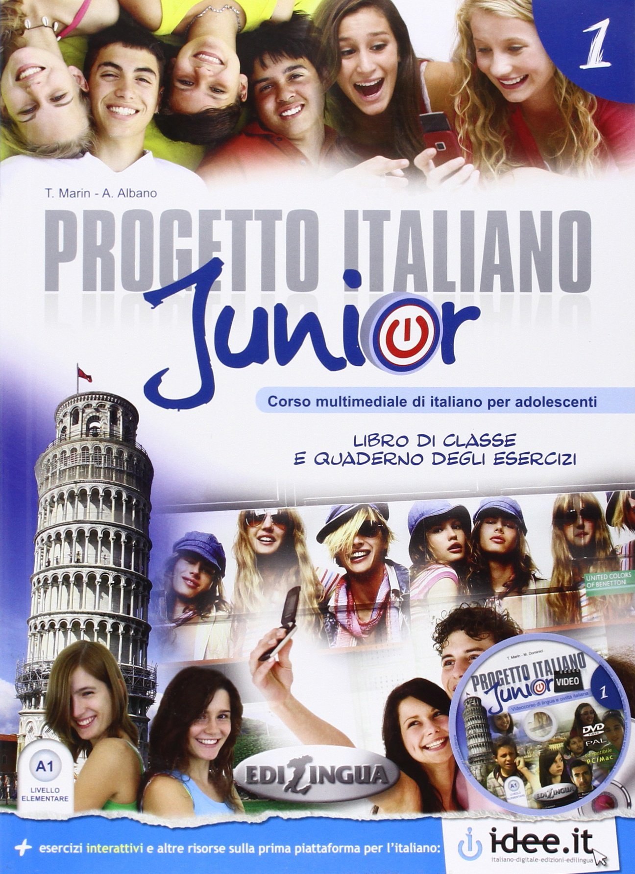 Progetto italiano Junior 1 - Libro dello Studente & Quaderno + CD Audio + DVD - 160 pages