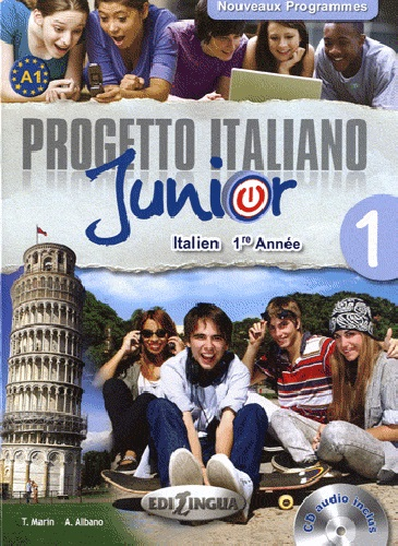 Progetto italiano Junior 1 pour francophones (Manuel) + CD audio