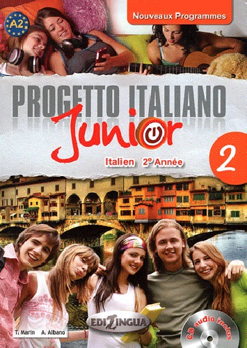 Progetto italiano Junior 2 pour francophones (Manuel) + CD audio