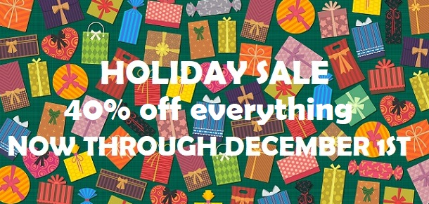 Holiday Sale 40% off everything