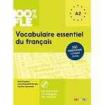100% FLE VOCABULAIRE ESSENTIEL DU FRANCAIS A2  BOOK AND CD