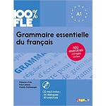 100% FLE GRAMMAIRE ESSENTIELLE DU FRANCAIS A1  BOOK AND CD