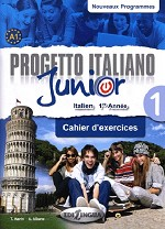 Progetto italiano Junior 1 pour francophones – Cahier d'exercices + DVD