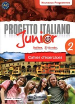 Progetto italiano Junior 2 pour francophones – Cahier d'exercices + DVD