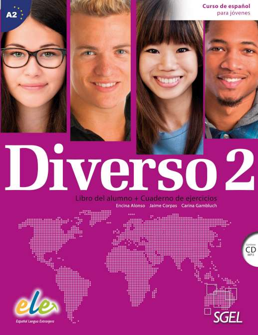 DIVERSO 2 Student's book+Workbook+CD